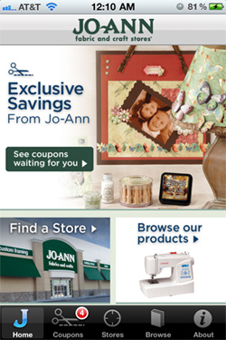 Get Coupons with the JoAnn iPhone App!