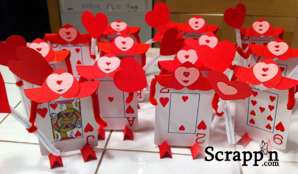 Alice in Wonderland Card Suitors