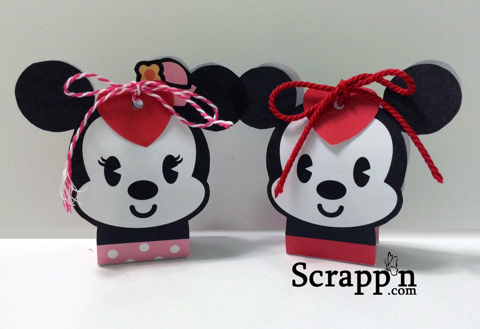 Mickey and Minnie Valentine Candy Boxes